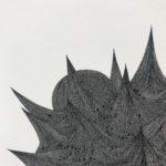 Jérémy Louvencourt, Série étude des pollens #2, Ink on paper, 2020. Detail.
