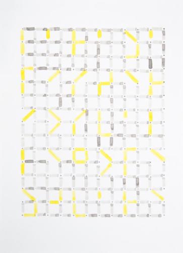 Didier Béquillard, Suite Mexicaine N°2, 2014. Encre sur papier 32 x 24cm.